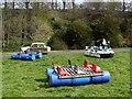 NU2405 : Rafts prepared at  Warkworth Hermitage by Andrew Curtis