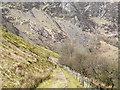 SH8418 : Mountain road below Craig Cywarch by Trevor Littlewood