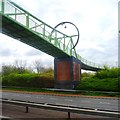 SJ9142 : Footbridge over A50 by Anthony Parkes