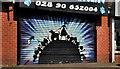 J3773 : Decorated shutter door, Belfast by Albert Bridge