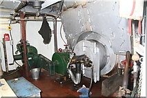 SO8218 : Gloucester Waterways Museum - SND No. 4 dredger, boiler by Chris Allen