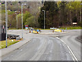 NS2489 : Roundabout on the A814 at Faslane by David Dixon