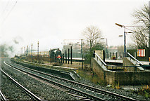 SP0278 : 45110 Passing Northfield Station 1999 by Roy Hughes