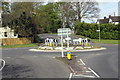 SU4789 : Rowstock Corner roundabout by Roger Templeman