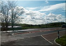 J3655 : The A24 (Belfast/Ballynahinch Road) from the entrance into Old Belfast Road by Eric Jones