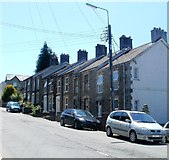 SN6221 : Heol Cennen houses south of Mosley's Garage, Ffairfach by Jaggery