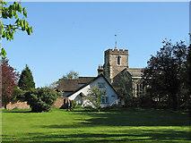TL3852 : Harlton: Organ Cottage and the parish church by John Sutton