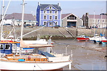 SN4562 : The Harbourmaster Hotel and Aberaeron harbour by Roger Davies