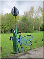 SJ6475 : A butterfly sculpture at Anderton Nature Park by Ian S