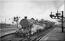 SU5290 : Down Christmas Parcels train at Didcot with unusual locomotive by Ben Brooksbank