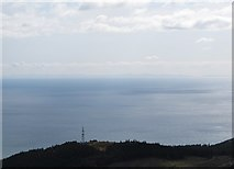 J3630 : The Drinnahilly Transmission Mast with the Isle of Man in the background by Eric Jones