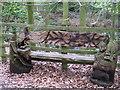 SJ5583 : Carved Bench, Big Wood by Sue Adair