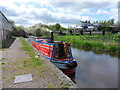 SJ3326 : Working Narrow Boat Hadar moored at Queen's Head by Keith Lodge