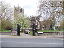 SK5319 : All Saints Church - viewed from Church Gate by Betty Longbottom