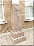 SK5319 : War Memorial - Baptist Church - Baxter Gate by Betty Longbottom
