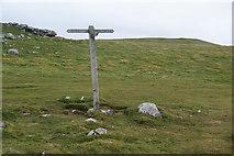 SD8965 : Footpath junction sign on Dean Moor by Bill Boaden