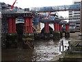 TQ3180 : Building Works at Blackfriars Bridge by Colin Smith