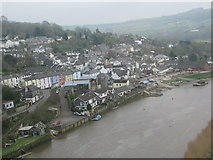 SX4368 : Calstock from the railway viaduct by Sarah Charlesworth