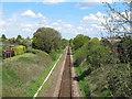 TM4289 : East Suffolk Line from Kemps Lane bridge by Roger Jones
