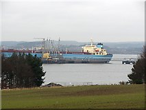 NT1580 : Maersk Producer at Hound Point by Richard Webb