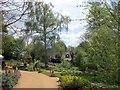 TM0733 : RSPB Flatford Wildlife Garden looking toward Bridge Cottage by PAUL FARMER