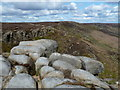 SK1087 : Rocks at the head of Grindsbrook Clough by Andrew Hill