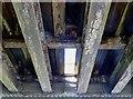NT4441 : The underside of a former railway bridge at Ferniehirst by Walter Baxter
