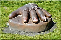 SJ9297 : A hand in Oxford Park by Gerald England