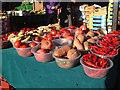 SP0786 : Red veg, outdoor market, Bullring by Robin Stott