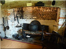TQ4109 : Tudor kitchen in Anne of Cleves' House, Southover, Lewes by pam fray