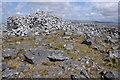 SN7417 : Cairn on summit of Garreg Lwyd by Philip Halling