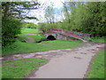 SP0083 : Two Paths Meet at Another Footbridge Over the Bourn Brook by Roy Hughes