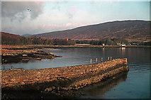NM4099 : Pier in Loch Scresort by Julian Paren