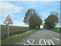 NY5519 : Signs for Little Strickland junction by John Firth