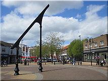 SK4958 : Sutton-in-Ashfield - Town Centre sun dial by Alan Heardman