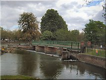 TL0549 : Lock on River Great Ouse by Paul Gillett
