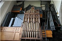 SK2168 : Rear view of Organ, All saints' church, Bakewell by J.Hannan-Briggs