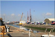 TQ7769 : Chatham Docks - commercial docks by Chris Allen