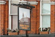SJ8989 : The sign of the Town Hall Tavern by Gerald England
