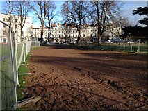 SP3165 : Route of surface water sewer, Pump Room Gardens by Robin Stott