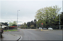NS4075 : A82 road junction at Silverton by John Firth
