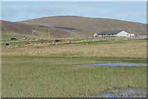 HP6312 : Looking towards the North Unst Public Hall from Haroldswick pool by Mike Pennington