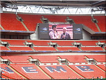 TQ1985 : A Wembley Stadium TV screen by Stanley Howe