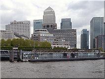 TQ3680 : Canary Wharf Pier by David Dixon