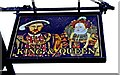 SU2092 : King & Queen (2) - sign, 14-15 High Street, Highworth by P L Chadwick