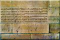 SD7628 : Foundation Stone, Accrington Magistrates' Court by David Dixon
