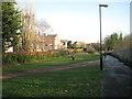 SP3165 : No-man's-land, rear of Avenue Road by Robin Stott