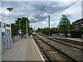 TQ3066 : A tram leaves Therapia Lane Tramlink Stop by Marathon