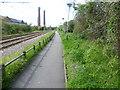 TQ3165 : Path next to Tramlink by Marathon