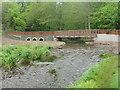 NT2570 : New bridge in the Hermitage of Braid by M J Richardson